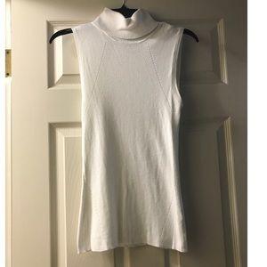 e9d44e1424e40d White House Black Market Tops - WHBM Cream Off-White Turtleneck Sweater Tank